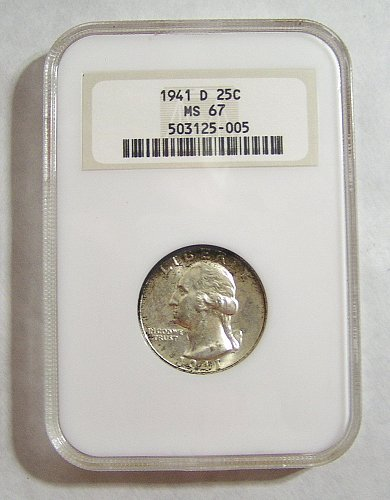 1941-D Washington Quarter - graded MS67 by NGC!!