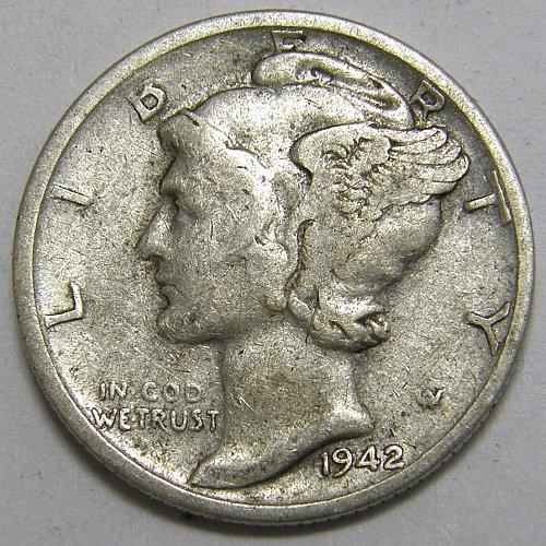 1942 S Mercury Dime #1
