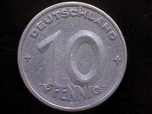 1948A GERMANY TEN PFENNIG