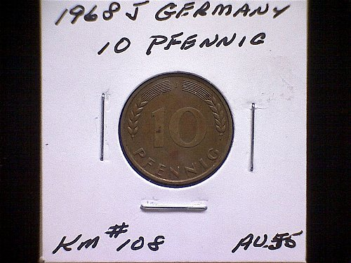1968 GERMANY TEN PFENNIG