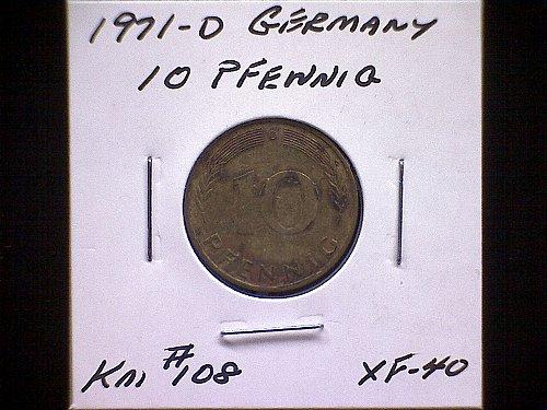 1971D GERMANY TEN PFENNIG