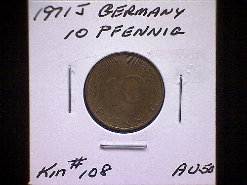 1971J GERMANY TEN PFENNIG