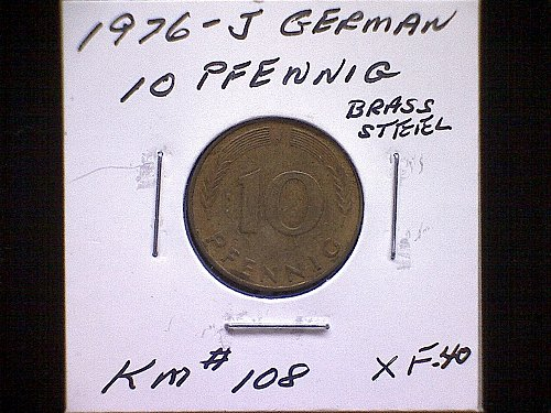 1976J GERMANY TEN PFENNIG