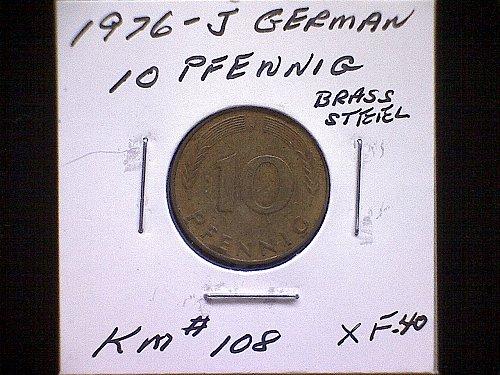1976J GERMANY TEN PFENNIG