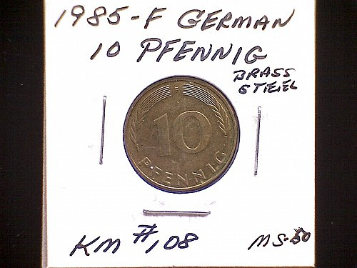 1985F GERMANY TEN PFENNIG