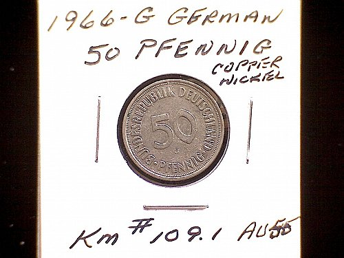 1966G GERMANY FIFTY PFENNIG