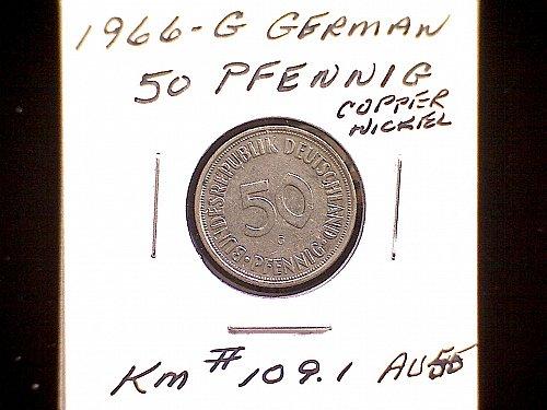 1966G GERMANY FIFTY PFENNIG