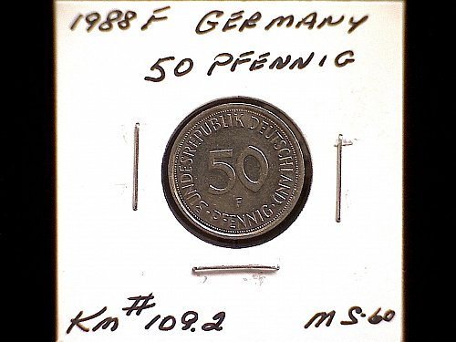 1988F GERMANY FIFTY PFENNIG