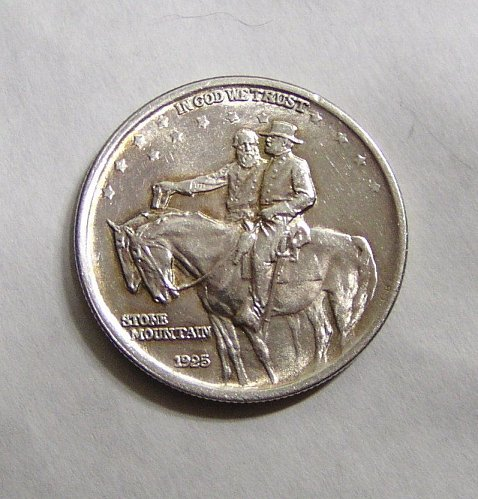 1925-P Stone Mountain Half Dollar Silver Commemorative 50c