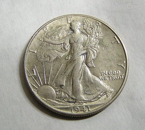 1941 Walking Liberty Half Dollar - AU