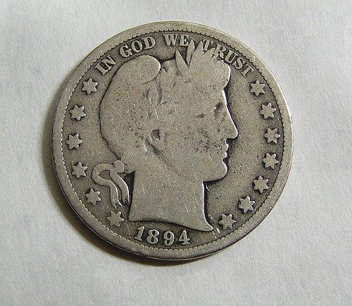 1894-S Barber Half Dollar - Good