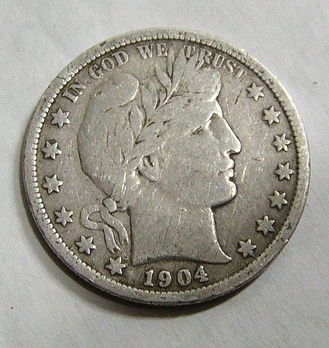 1904 Barber Half Dollar - VG