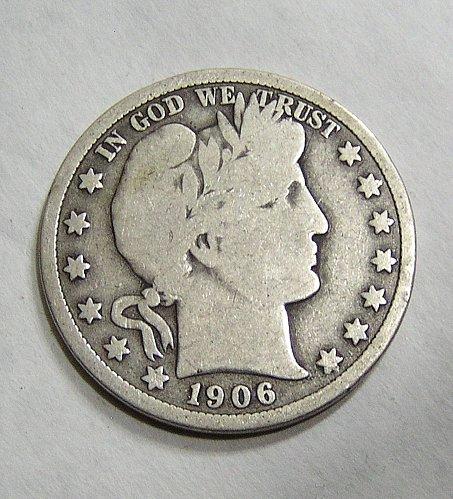 1906-D Barber Half Dollar - Good Condition