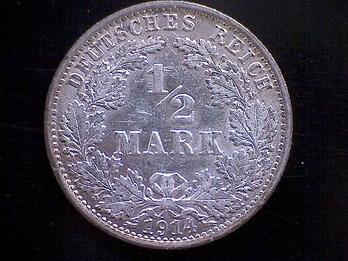1914A GERMANY HALF MARK