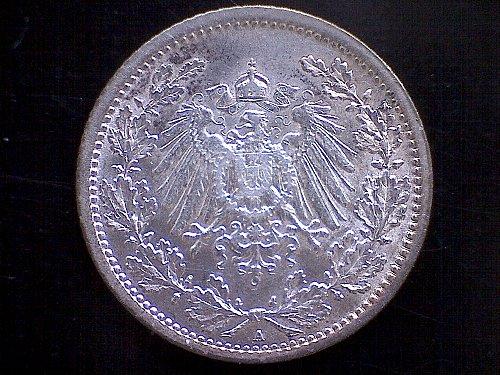 1914A GERMANY HALF MARK