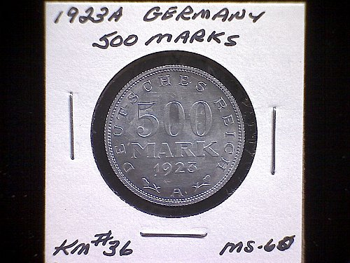 1923A GERMANY FIVE HUNDRED MARKS