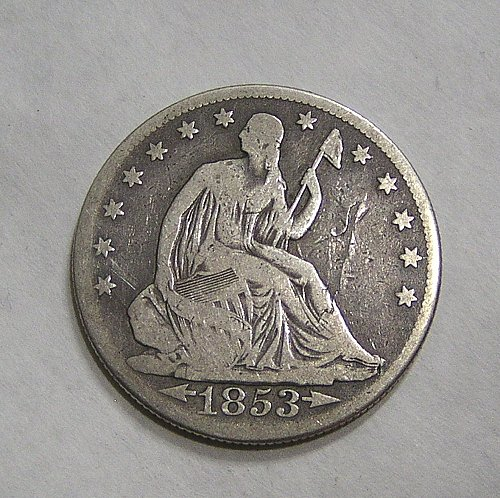 1853-O Seated Liberty Half Dollar Arrows & Rays