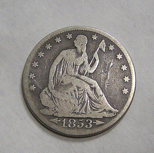 1853-O Seated Liberty Half Dollar Arrows & Rays
