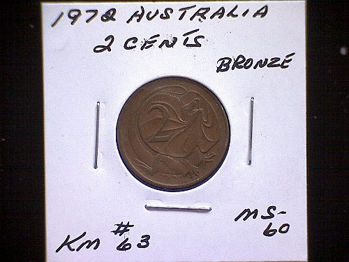 1972 AUSTRALIA TWO CENTS