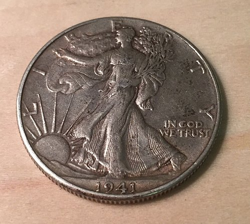 1941 Walking Liberty Half Dollar Extra Fine Condition Original Surfaces