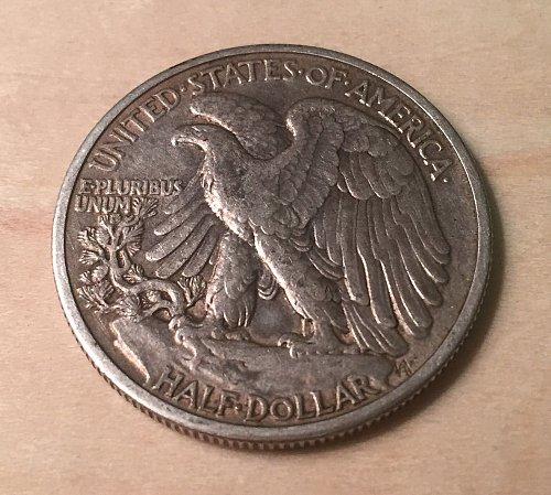1941 Walking Liberty Half Dollar Extra Fine Condition Original Surfaces
