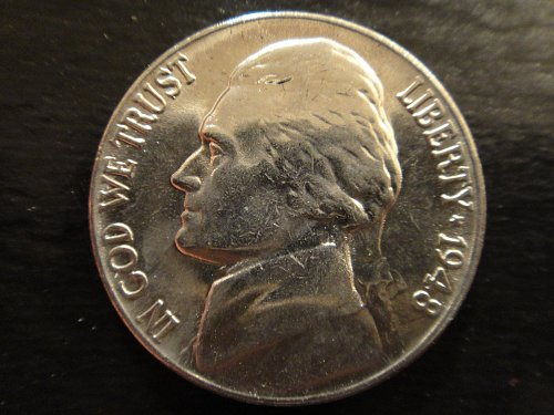 1948 Jefferson Nickel MS-64 (Near Gem) Strong Strike Partial Steps!