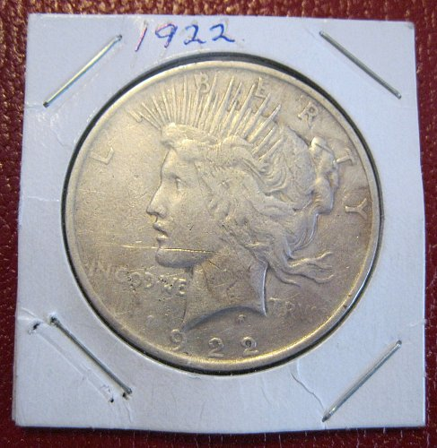 1922-P Peace Silver Dollar,  NICE CIRCULATED COIN!!!