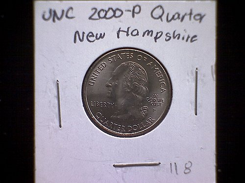 2000P NEW HAMPSHIRE 50 STATES AND TERRITORIES QUARTERS