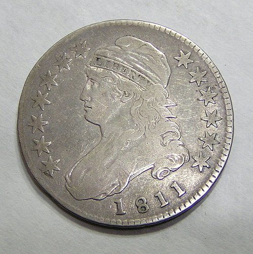 1811 Capped Bust Half Dollar - Small 8 - Nice Coin!
