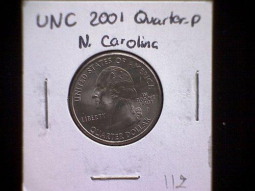 2001-P NORTH CAROLINA 50 STATES AND TERRITORIES QUARTERS