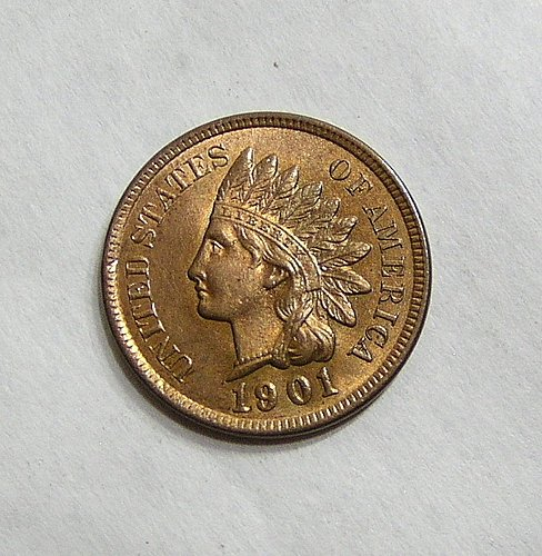 1901 Indian Head Cent - GEM BU RED!