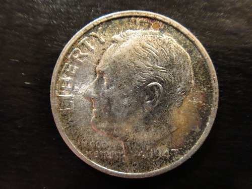 1947-S Roosevelt Dime MS-64 (Near Gem) With Some Obv Cherry Tone!