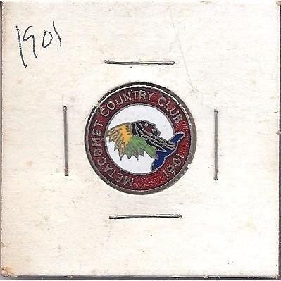 1901 METACOMET COUNTRY CLUB TOKEN
