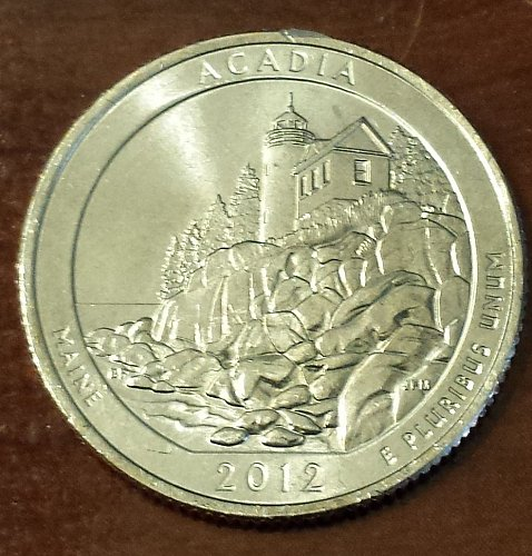2012-P Acadia National Park Quarter - From Mint Roll (6052)