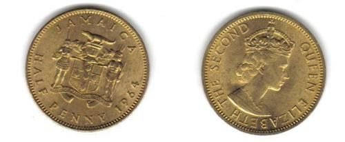 1964 jamaica half penny