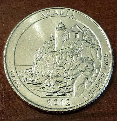 2012-D Acadia National Park Quarter - From Mint Roll (6056)