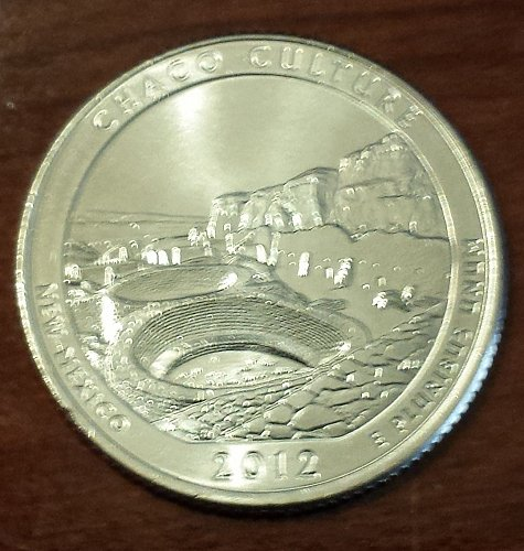 2012-D Chaco Culture National Park Quarter - From Mint Roll (6057)