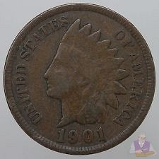 4-indians 1901,1905,1906,1908 all good