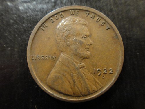 1922-D Lincoln Cent Extra Fine-40 With Reverse Die Cracks!
