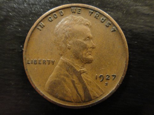 1927-S Lincoln Cent Extra Fine-40 Strong Strike & Nice Chocolate Brown!