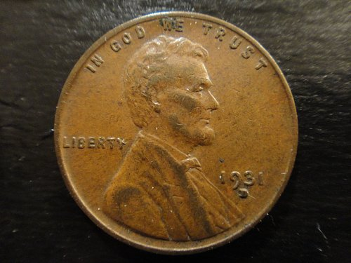 1931-D Lincoln Cent Very Fine-30 Nice Sharp Strike Looks XF At First Glance!