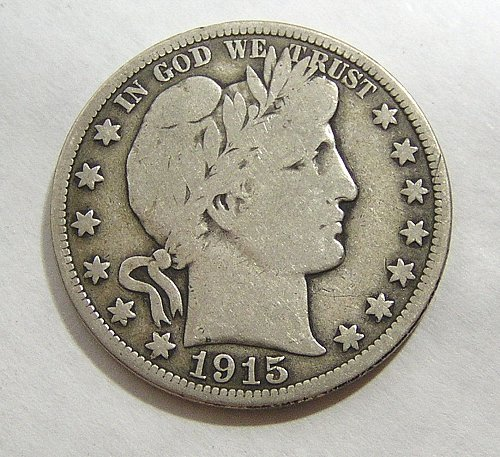 1915 Barber Half Dollar - VG Condition
