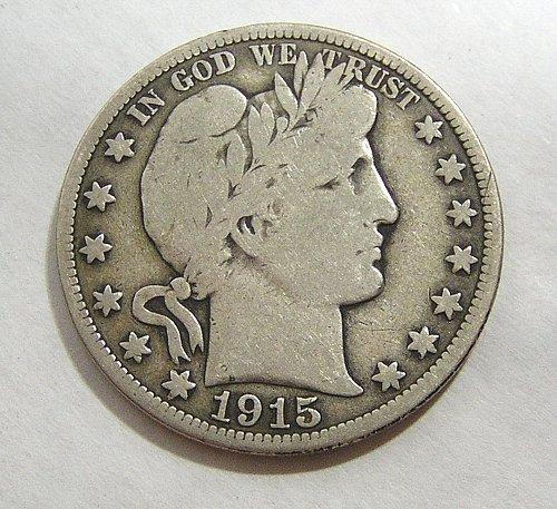 1915 Barber Half Dollar - VG Condition
