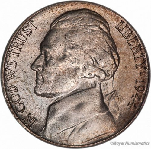 1944s nickel silver unc