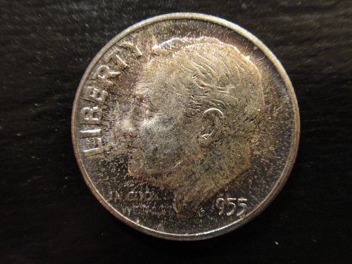 1955 Roosevelt Dime MS-63 (Choice BU) With Attractive Toning!