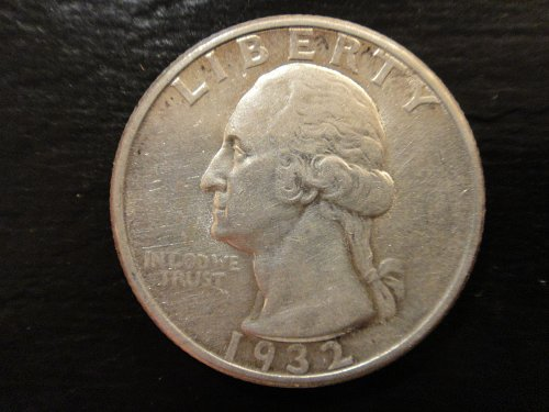 1932 Washington Quarter Almost Uncirculated-55 Nice Luster For Grade