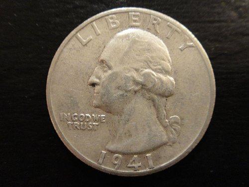 1941-S Washington Quarter Almost Uncirculated-50 Nice Coin For Grade!