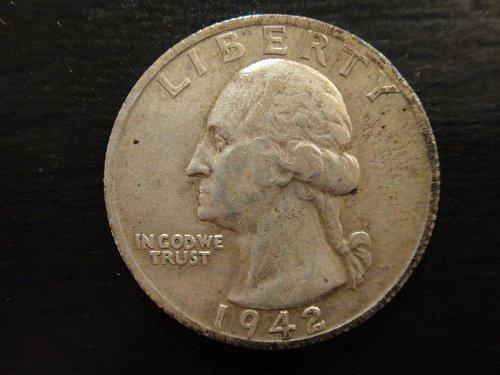 1942-S Washington Quarter Extra Fine-40 Nearly Contact Mark Free!