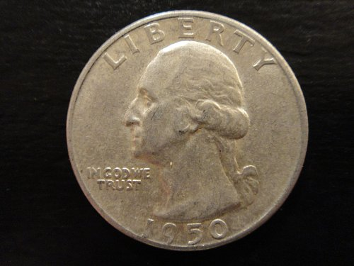 1950-D Washington Quarter Almost Uncirculated-53 Very Nice Coin!