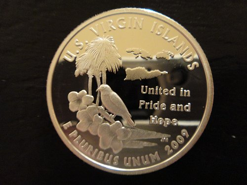 Territory Quarter 2009-S SILVER Virgin Islands Proof-66 (GEM)+